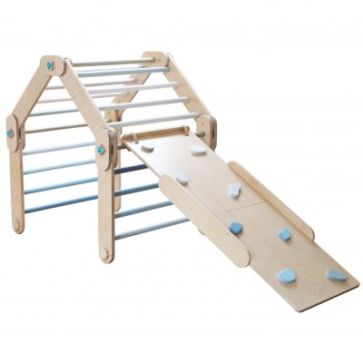 Blue Climber with a ramp